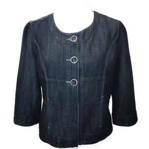 Baccini 3/4 Sleeve Denim Jean Jacket ~ Size M